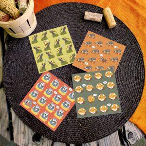 Petites cartes de correspondance saisonnières